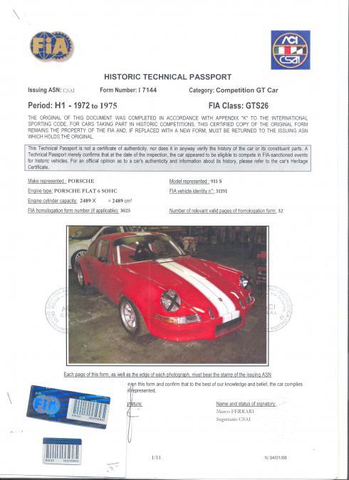 Avis PORSCHE 911 901 T 2.0 compétition 1969 par angelo977