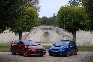 Subaru Impreza WRX STi / Mitsubishi Lancer Evolution - Présentation  Comparatif auto.com