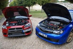 Subaru Impreza WRX STi / Mitsubishi Lancer Evolution - Moteur Comparatif auto.com