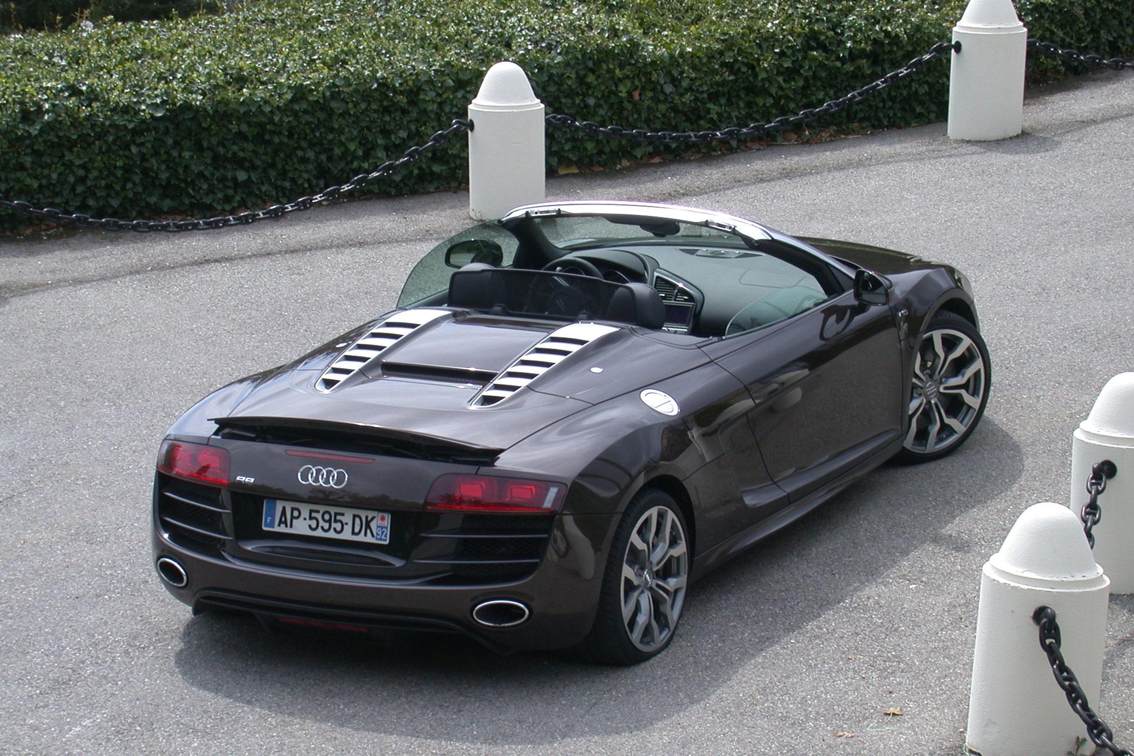 Essai Audi R8 Spyder Motorlegend