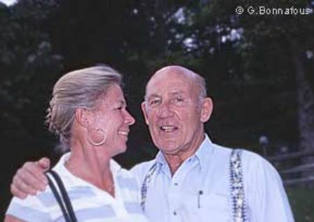 Stirling Moss et son épouse Susy