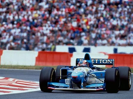 Schumacher sur Benetton, GP de France 1995