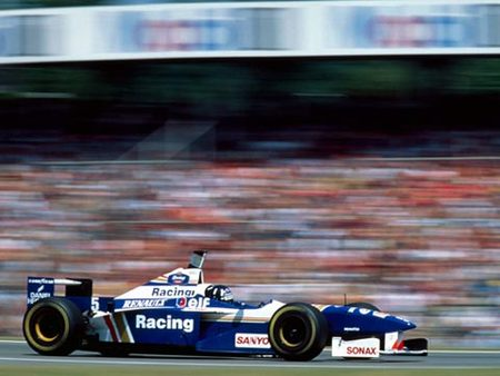 Hill sur Williams, GP d'Allemagne, Hockenheim 96