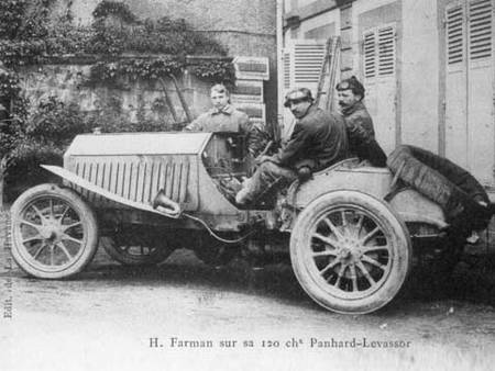 Henri Farman aux eliminatoires de 1905