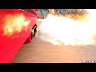 Une Ferrari F40 équipée d'un échappement inox Tubi