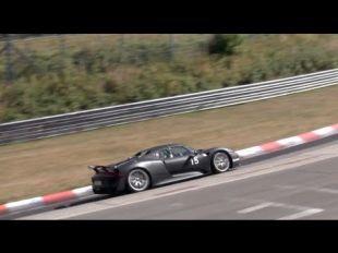 La Porsche 918 Spyder sur le Nürburgring