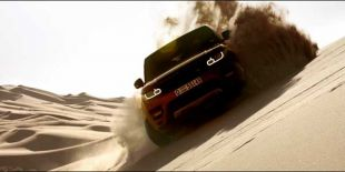 Range Rover dans le désert