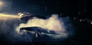 Lamborghini Huracan en glisse