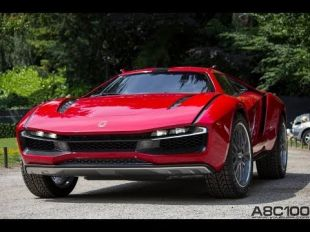 Vidéo Fiat Abarth 2000 Scorpione à la Villa d'Este 2014 - Essai