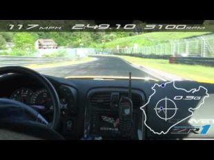 Chevrolet Corvette C6 ZR1 sur le Nürburgring