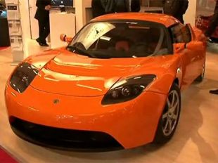 Salon : Tesla Roadster au Mondial de l'Automobile 2008