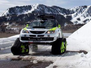 Ken Block et sa Subaru à chenilles !