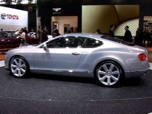 Bentley Continental GT au Mondial de l'Automobile 2010