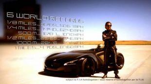 Peugeot EX1, record en Chine