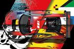 Quatre Audi R8 LMS GT3 Art Cars aux 24 Heures de Spa