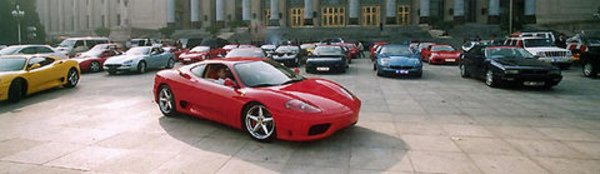 Ferrari en parade à Pékin