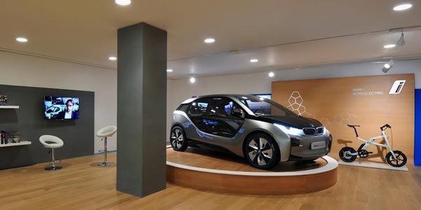 Un BMW i Store à Londres