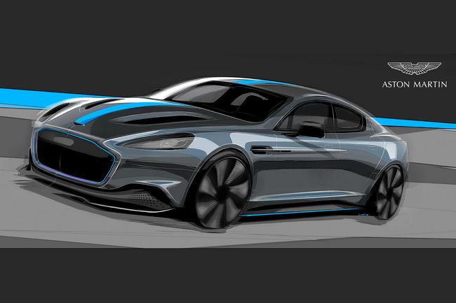 Aston Martin RapidE : un cran au dessus de la Tesla Model S
