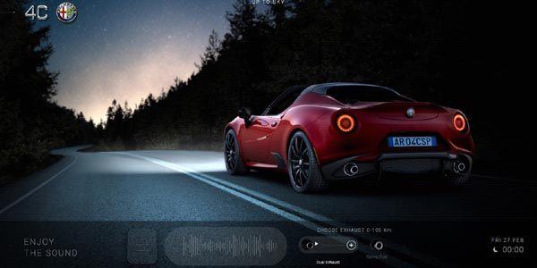 Un site interactif pour l'Alfa Romeo 4C Spider