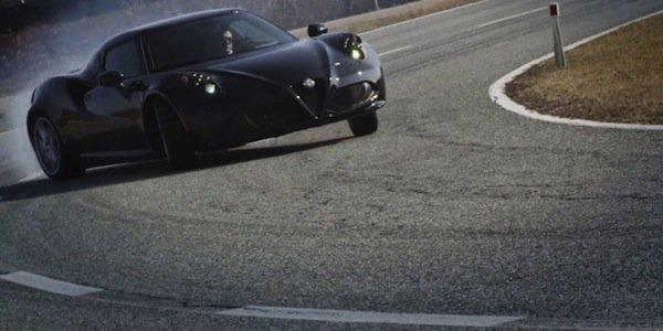 L'Alfa Romeo 4C à Balocco