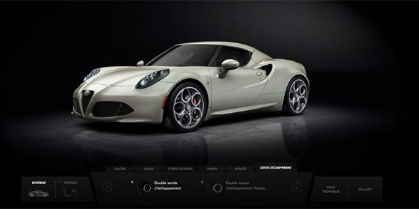 Configurez votre Alfa Romeo 4C en ligne