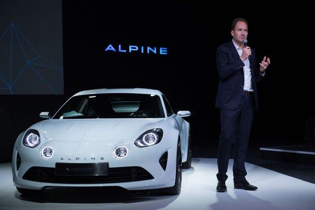 Le concept Alpine Vision invité... à l'Élysée
