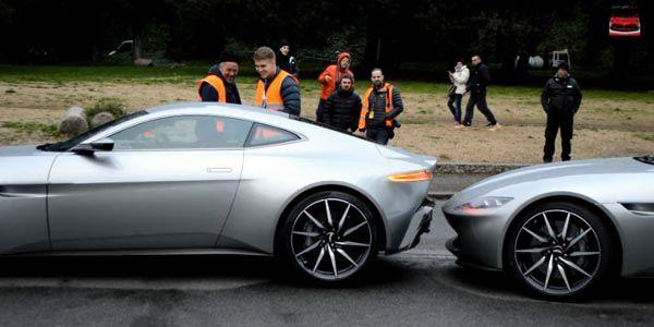 Les Aston Martin DB10 en tournage à Rome