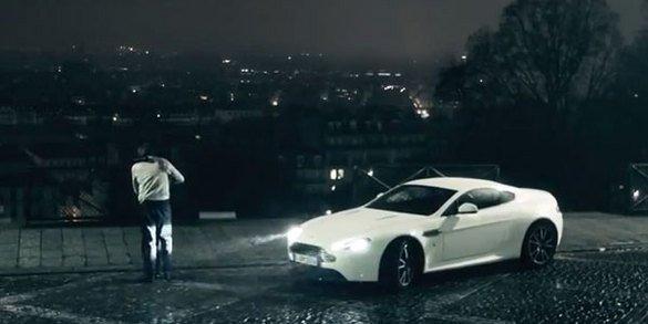 La V8 Vantage à la conquête de Paris