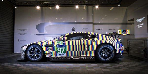 Le Mans : l'Aston Martin Vantage GTE Art Car dévoilée