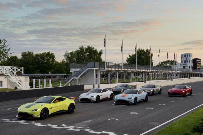 Hommage et éditions spéciales pour Aston Martin à Goodwood