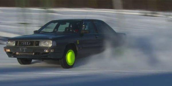 Vidéo : une Audi 200 Quattro turbo en vrac sur la neige