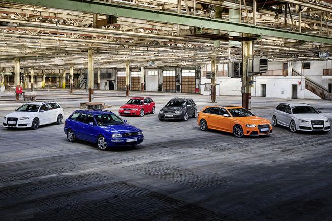 Audi célèbre 25 ans de modèles RS