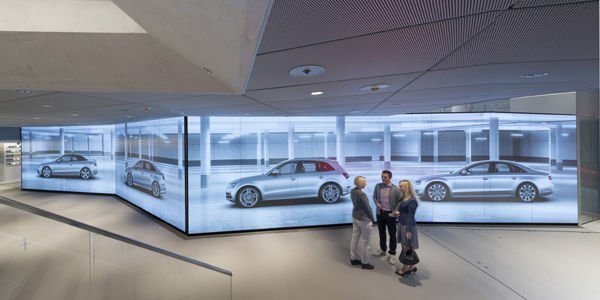 Le showroom virtuel d'Audi arrive à Paris