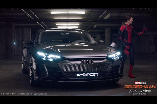 L'Audi e-tron en vedette dans le nouveau Spider-Man