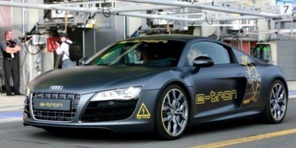 L'Audi E-Tron sur le circuit du Mans