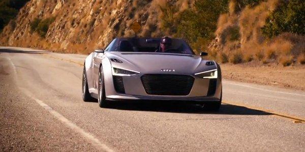 L'Audi e-tron Spyder en vadrouille