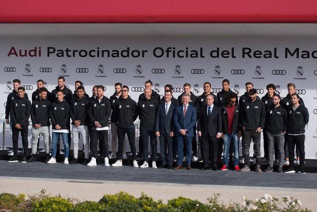 Audi livre leurs voitures aux joueurs du Real Madrid