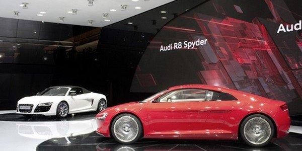 Audi et son stand du Salon de Francfort