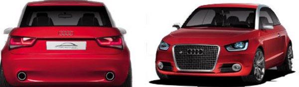 Metroproject : l'Audi A1 en filigrane