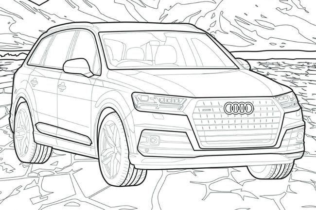 Un Cahier De Coloriages Audi Pour Les Enfant En Confinement Actualite Automobile Motorlegend