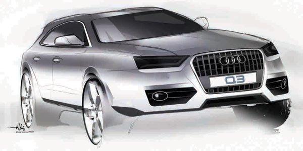 Premiers sketchs pour l'Audi Q3