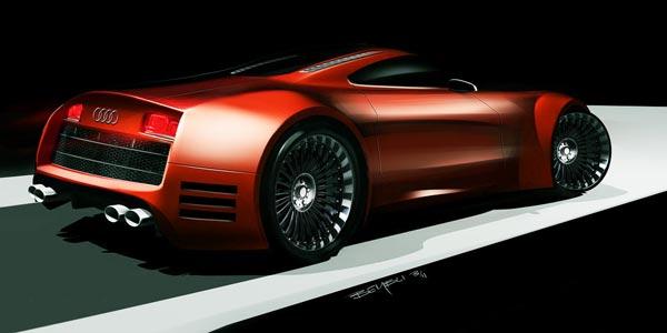 Audi R10 V10, vue d'artiste