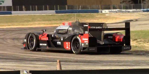 WEC : l'Audi R18 spec 2015 en piste à Sebring