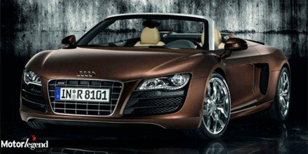 L'Audi R8 Spyder  fait sa star à Londres