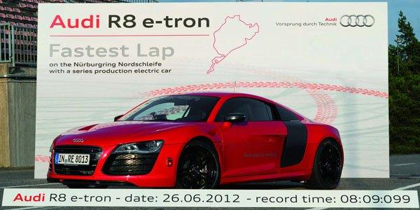 Un record pour l'Audi R8 e-tron