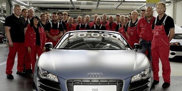 20000ème exemplaire d'Audi R8