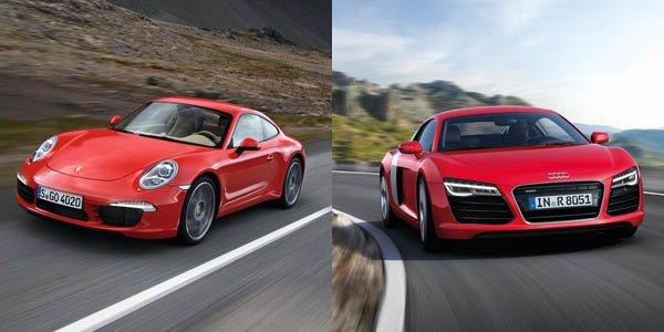 Audi R8 et Porsche 911 font bande à part