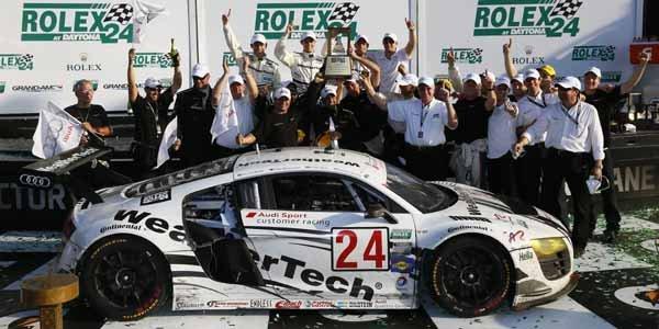 L'Audi R8 GrandAm s'impose à Daytona