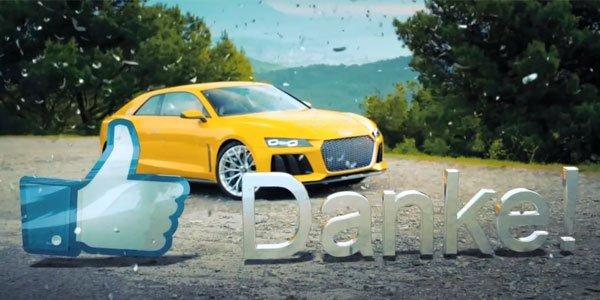 L'Audi Sport Quattro Concept en action