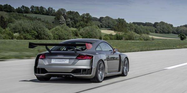 L'Audi TT Clubsport Turbo concept en action